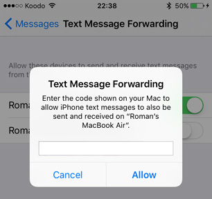 forward a text on iphone forward sms text messages from the iphone to your mac mactip 16951
