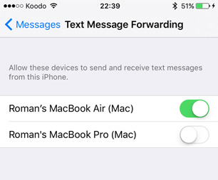 text forwarding iphone forward sms text messages from the iphone to your mac mactip 1399
