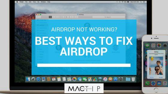 11+ Ways to Fix Airdrop - MacTip