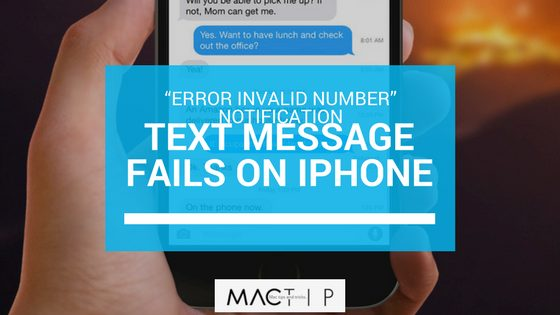 """What The """"Error Invalid Number"""" Notification Means & Fix"""