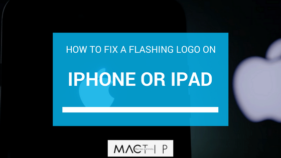 How To Fix a Flashing Logo on an iPhone or iPad - MacTip
