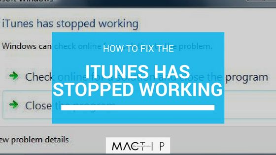 itunes has stopped working