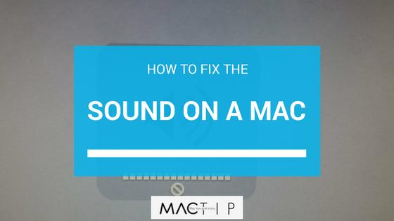 how to fix volume on mac