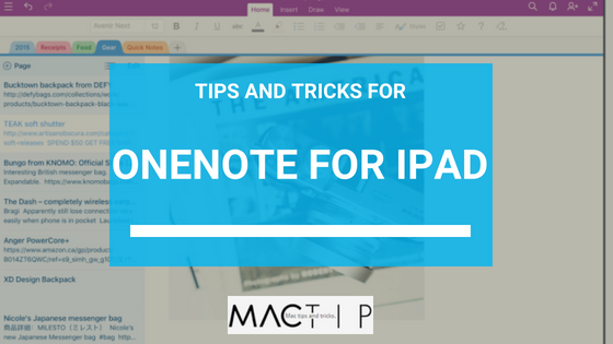 Features Of The OneNote App for iPad - MacTip
