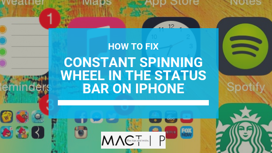 Fix for Non-Stop Spinning Wheel Issue after iPhone Update