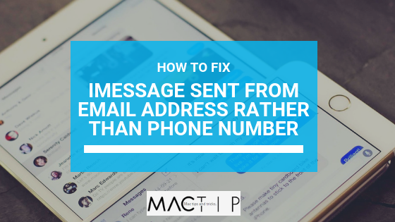 How to Fix iPhone Sending iMessage from Email Address